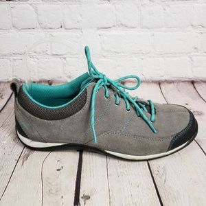 LL Bean Gray Walking Sneakers Womens 8 Suede Shoes